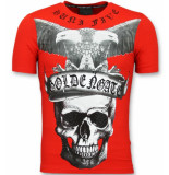 Golden Gate Skull t shirts rood
