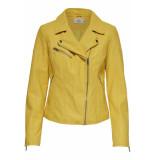 Only Onlflora faux leather biker cc otw 15167865 solar power geel