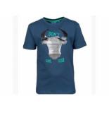 Someone Shirt korte mouw buffel paille blauw