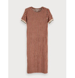 Maison Scotch 149868 98 striped midi length dress in terry quality combo s rood