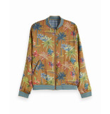 Maison Scotch 150008 99 reversible bomber jacket in various prints