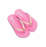 Zebra Slipper color roze
