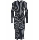Jacqueline de Yong Jdynola l/s striped dress jrs 15170912 sky captain/cloud dancer blauw