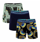 Muchachomalo Boys short 3-pack proud as a peacock