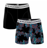 Muchachomalo Boys 2-pack shorts dna zwart