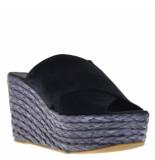 BTMR Sandalen sleehak zwart