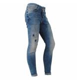 Cars Heren jeans super skinny damaged look stretch lengte 36 aron denim blauw