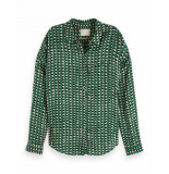 Maison Scotch Oversized boxy fit shirt groen