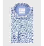 Michaelis Delfts print overhemd (extra lange mouw) blauw