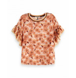 Maison Scotch Mixed printed top wit