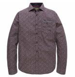 PME Legend Long sleeve shirt poplin print seth salute rood
