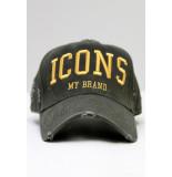 My Brand Icons logo army pet groen/ goud