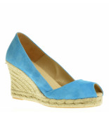 BTMR Sandalen op sleehak blauw