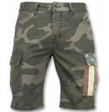 Enos Camouflage korte broek mannen grijs