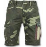 Enos Heren camouflage korte broek groen