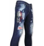 Mario Morato Skinny heren jeans blauw