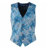 Ferlucci Heren gilet bloemen mauro blauw