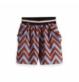 Maison Scotch Drapey printed shorts