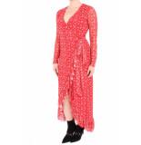 NA-KD A-kd mesh wrap waist dress rood