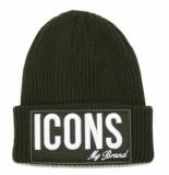My Brand Icons beanie groen