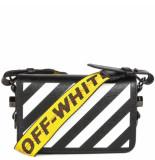 Off White Diag mini flap bag zwart