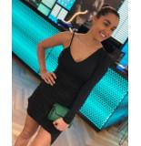 Byblos Dress one shoulder - zwart