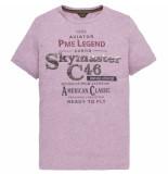 PME Legend Ptss194533 4325 short sleeve r-neck hobbs tshirt lavender crystal rood