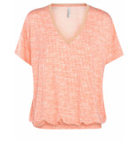 Summum 3s4283-30061 319 top short sleeve structure print sweet coral rood