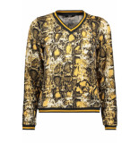 Only Onlselco snake l/s top jrs 15181942 spruce yellow beige