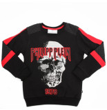Philipp Plein Junior sweatshirt ls skull zwart
