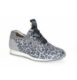 Hassia Hassia artikelnummer 301919 sneaker zilver met panter print