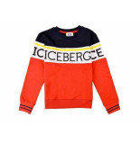 ICEBERG Sweater colourblock rood