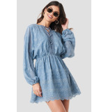 NA-KD 1014-000083 jurk blauw