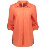 Zoso Bonny travel blouse 192 salmon/navy oranje