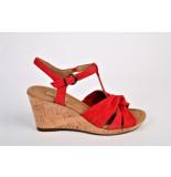 Gabor Gabor artikelnummer 22.828-38 sandaal rood op sleehak