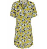 Jacqueline de Yong Jdywin treats s/s shirt dress wvn 15176876 cress green/big flower geel
