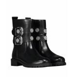 Nikkie Biker boots n9-866 combat buckle zwart