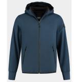 Denham Jack brass soft shell lss blauw