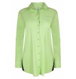 Zoso Bonny travel blouse 192 green/navy groen
