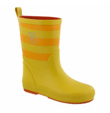 Color Kids Gestreepte kinder regenlaarzen vilhelm geel