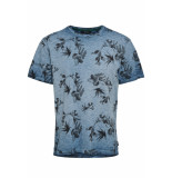 Only & Sons Onslance ss reg aop washed tee 22012624 majolica blue blauw