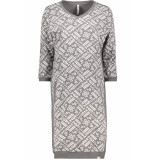 Zoso Stacey allover printed sporty dress 192 grey grijs