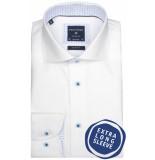 Profuomo overhemd met extra lange mouwen wit