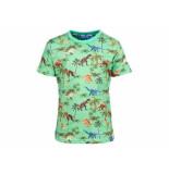 Someone Shirt korte mouw aop dinosaurs groen