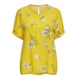 Jacqueline de Yong Jdykenya 2/4 top wvn 15174485 lemon/cloud dancer geel