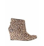 Fab Enkellaars charly boot leopard suede bruin