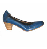 Go Shoes dames pump blauw