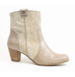 Go Shoes dames ritslaarsje beige
