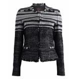 Marie Méro Jasje layered ruche jacket grey grijs
