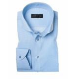 John Miller Overhemd tailored fit checkered light blue blauw